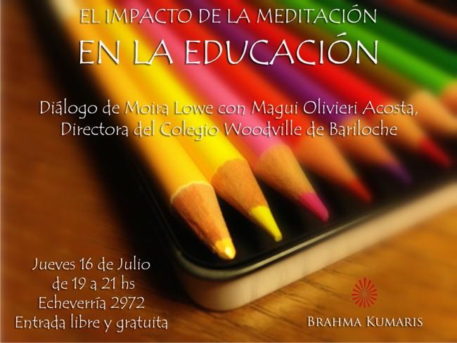 Brahma Kumaris Meditacion en la Escuela